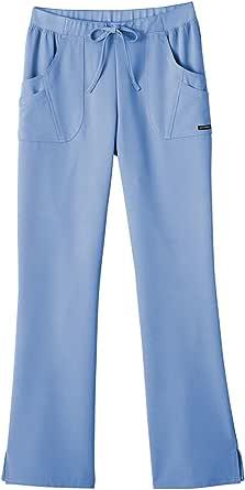 Jockey Classic Fit Womens Rib Trim Combo Comfort Scrub Pant (Ceil, XX-Small)