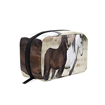 0a293e9d0088 Cosmetic Bag Wild Mustang Horse Customized Makeup Bags Square ...