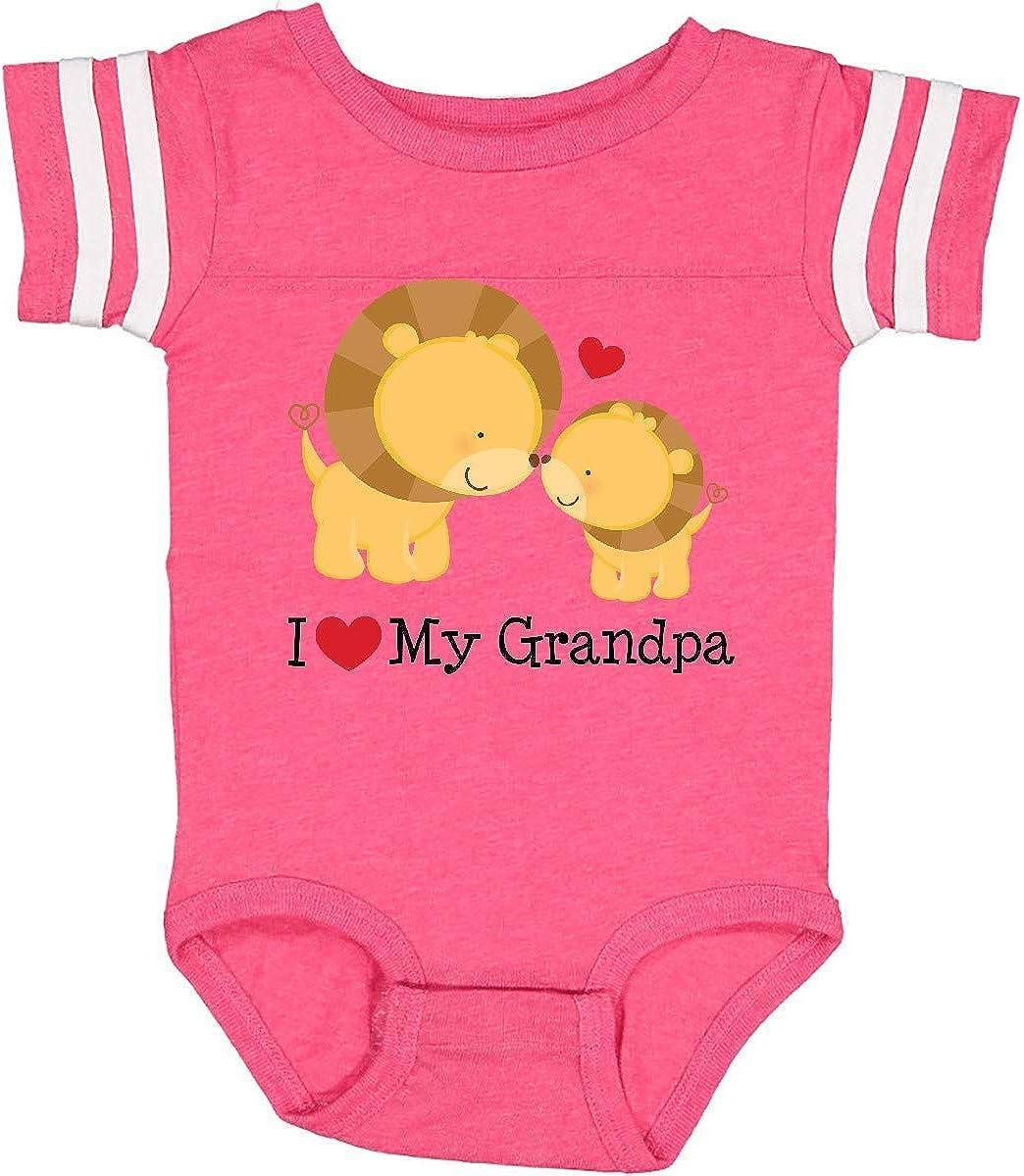 Inktastic Grandpas Girl Heart Flowers Infant Creeper Family Cute Grandpa New