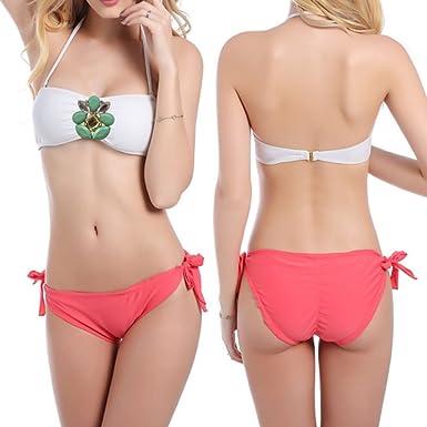 d8ff8c0e854 Brazilian Bikini Bottom Thong Swimwear Mini String Micro Tiny Beach Wear  Women's Tie Side Pantie Triangle