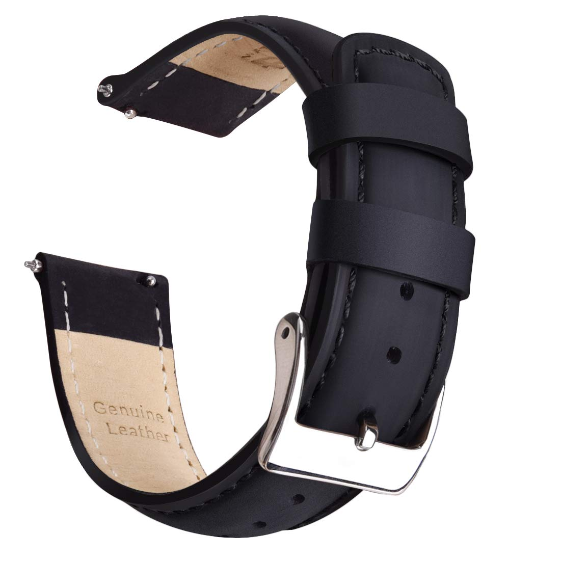 Ritche Quick Release Leather Watch Bands-18mm 20mm 22mm Top Grain Leather Watch Strap