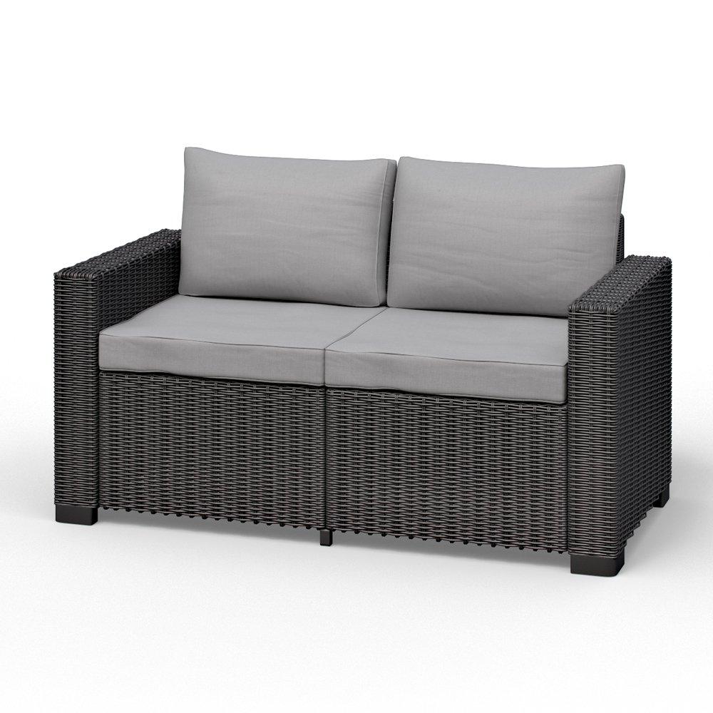 Allibert California 2 Sitzer Couch Polyrattan Gartenmöbel Lounge  Rattanoptik Günstig Online Kaufen