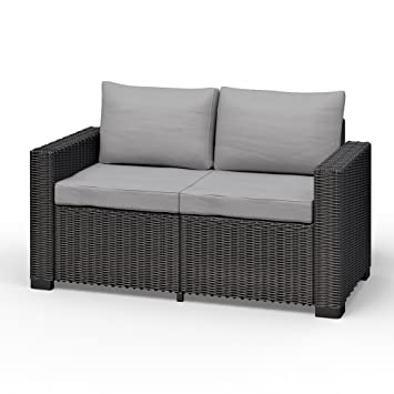 Amazon.de: Allibert California 2 Sitzer Couch Polyrattan