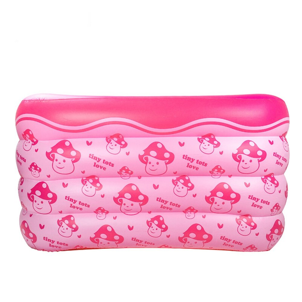 Hw bathtub Baby Inflatable Rectangular Print Swimming Pool Material: PVC Size: Small: 10512075cm; Large: 10514075cm Bathtub (Color : B) by Hw bathtub (Image #5)