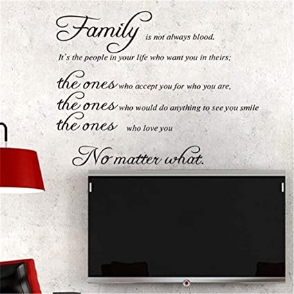 Amazoncom Rote Motivational Wall Sticker Quotes Family Is Not