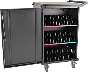 Tripp Lite 36-Port AC Charging Cart Storage Station for Chromebooks, Laptops, Tablets, Black (CSC36AC)