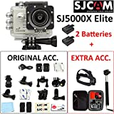 "SJCAM SJ5000X Elite (VALUE PACK) 4K 1080P WiFi 2""LCD SONY IMX078 Sensor Gyro Anti-Shake Adjustable Angle 170° Max Waterproof Action Camera(Silver)"