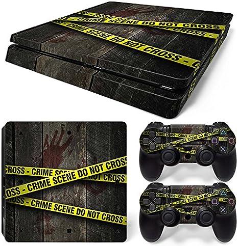 Sony PS4 Playstation 4 Slim Skin Design Foils Pegatina Set - Crime Scene Motivo: Amazon.es: Videojuegos
