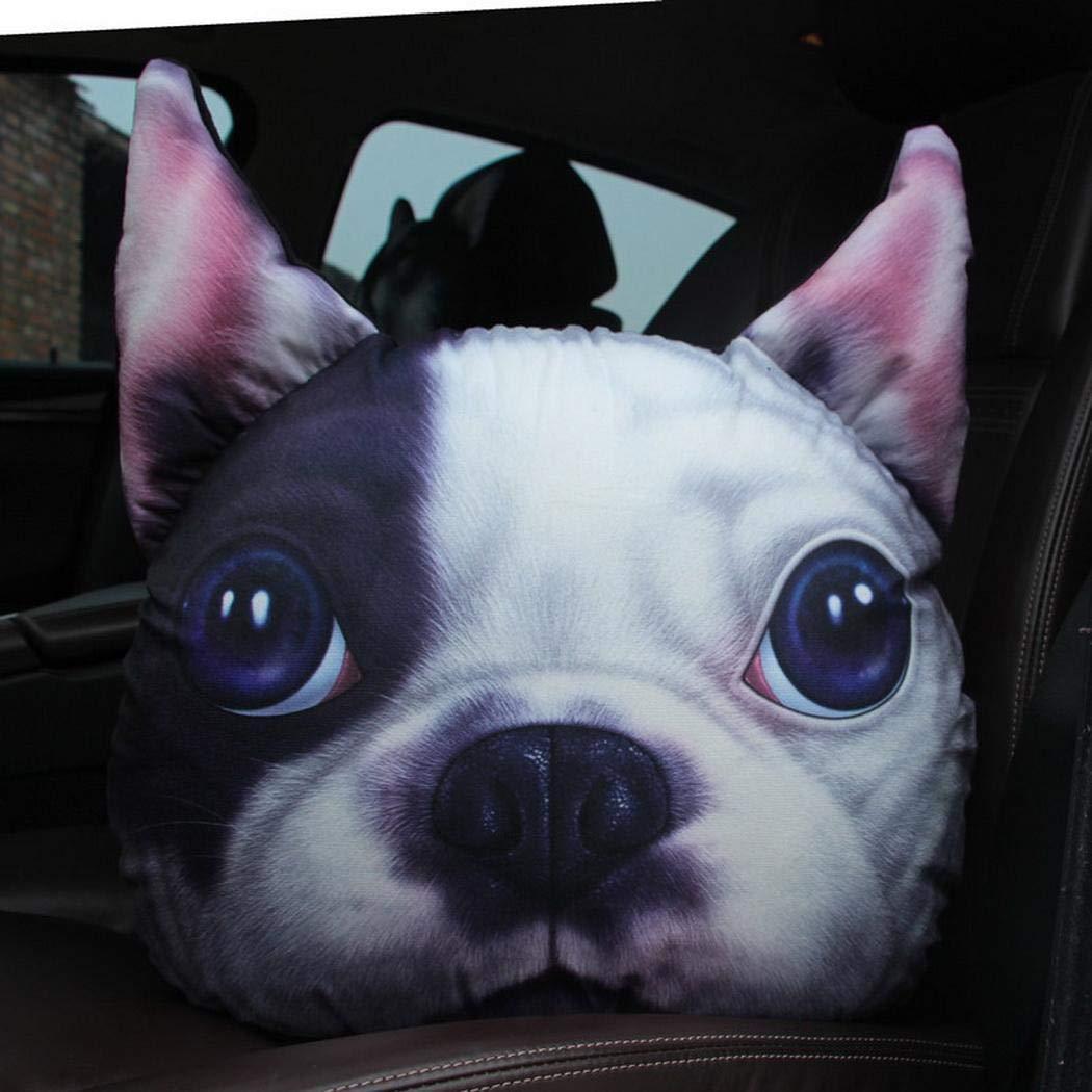 Fanala Fashion Soft 3D Cute Animal Print Pillow Home Car Cushion Pillows by Fanala