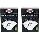 2 x Moccamaster Technivorm filter nr 4, 100 filterpåsar