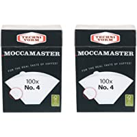 2x Moccamaster–Filtro No. 4(por 100bolsas) Techni Vorm