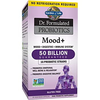 Probiotic 40 billion cfu guaranteed potency until expiration patented delay for Garden of life probiotics mood