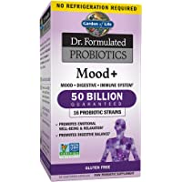 Garden of Life - Dr. Formulated Probiotics Mood+ - Acidophilus Probiotic Promotes Emotional Health, Relaxation, Digestive Balance - Gluten, Dairy, and Soy-Free - 60 Vegetarian Capsules