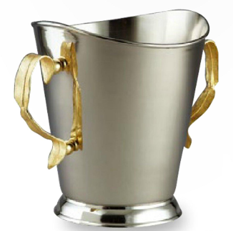 "Leeber Gold Feather Champagne Bckt, 8.25""H"