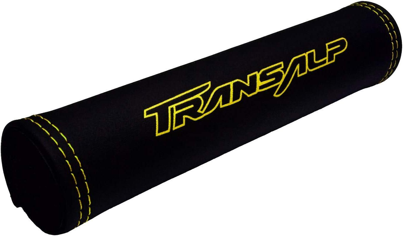 logo giallo Paracolpi manubrio Transalp