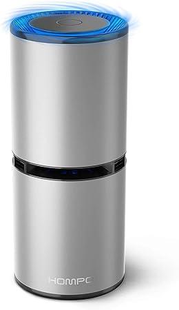 HOMPO Portátil Purificador de Aire - Filtro de Aire Ionizador Compacto Generador de Iones Negativos, sin Necesidad de Filtro, para Auto hogar Oficina Eliminar el Humo Polvo PM2,5 alergias gérmenes: Amazon.es: Hogar