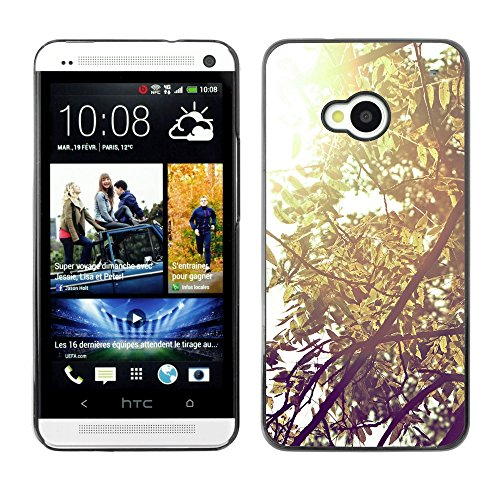 Soft Silicone Rubber Case Hard Cover Protective Accessory Compatible with HTC ONE M7 2013 - Plant Nature Forrest Flower 57