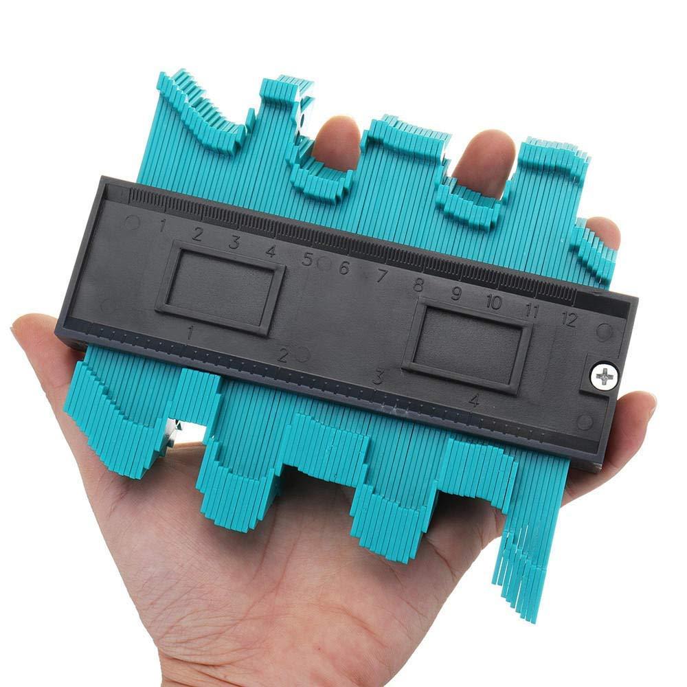 Multifunktionales 12,7 cm Konturenprofil-Messgerät, Fliesen, Laminat, Kantenformmaß, Handwerkzeug, Holzbearbeitungswerkzeug, Zubehör tragbar