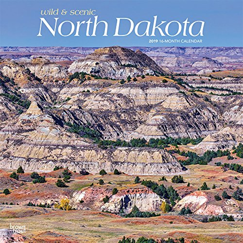 North Dakota, Wild & Scenic 2019 12 x 12 Inch Monthly Square Wall Calendar, USA United States of America Midwest State Nature (Multilingual Edition)