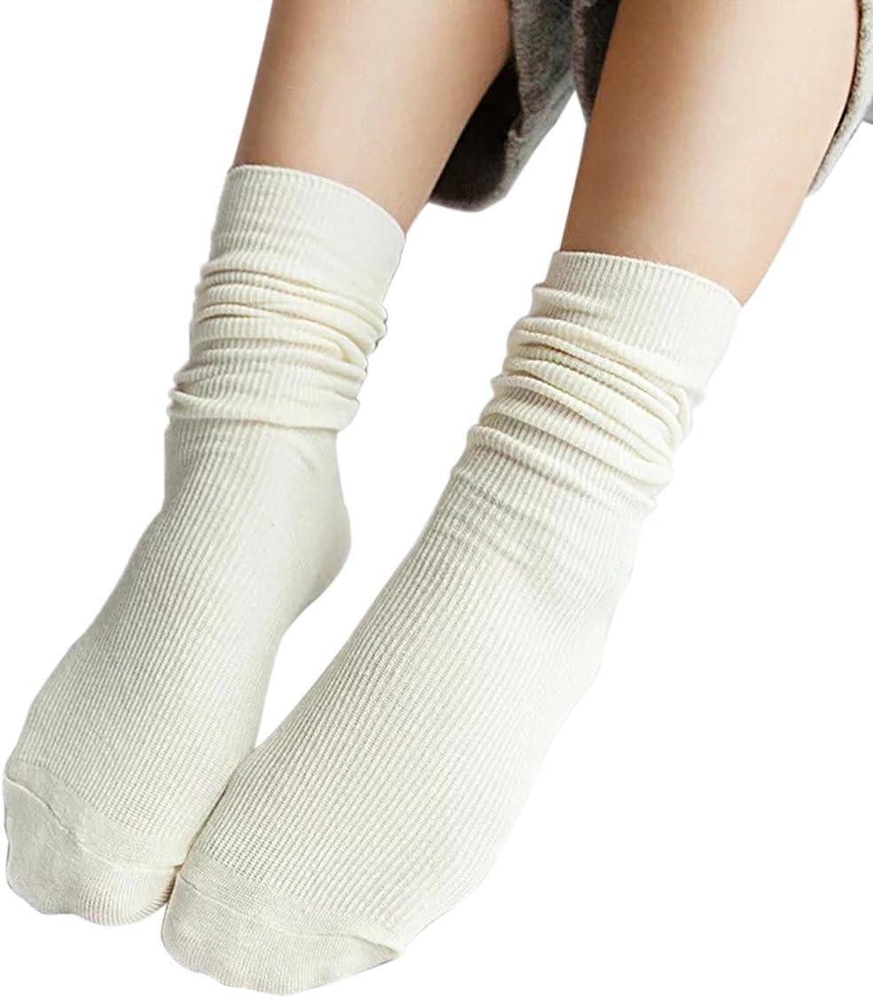 Bianco TININNA Autunno e Inverno Caldo Confortevole Cotone Vintage Lunghe Calzini Sezione Sottile Calzini delle Donne