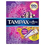 Tampax Radiant Plastic Unscented Tampons, Regular Absorbency, 16 Count. 2