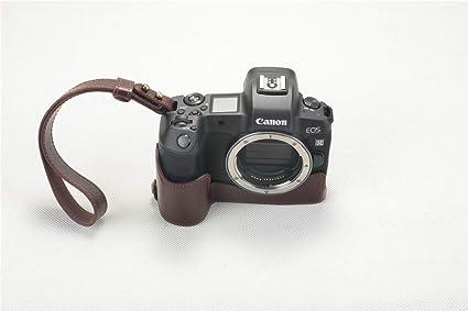 Zakao - Funda para cámara EOS R (Piel auténtica, Apertura de Media ...