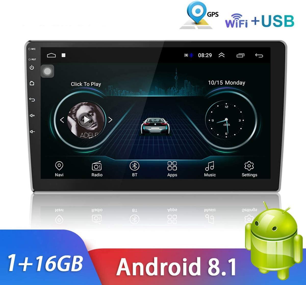 Bluetooth Autoradio 10 pulgadas Android 9.0 Reproductor multimedia Navegación GPS Reproductor WIFI en el tablero Auto Radio USB / Mirrorlink Pantalla táctil capacitiva 1080P Unidad principal
