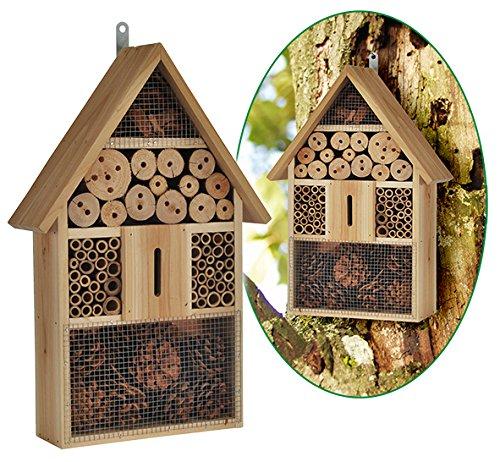 Bambelaa1 hôtel à insectes XXL - Matériaux naturels - 100 % nature (48x 31x 10cm) Bambelaa!