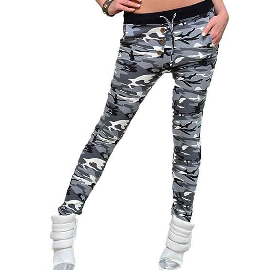 Tongshi Fitness polainas camuflaje mujer elastizada Yoga gimnasio de deportes pantalones (Multicolor, L): Amazon.es: Deportes y aire libre