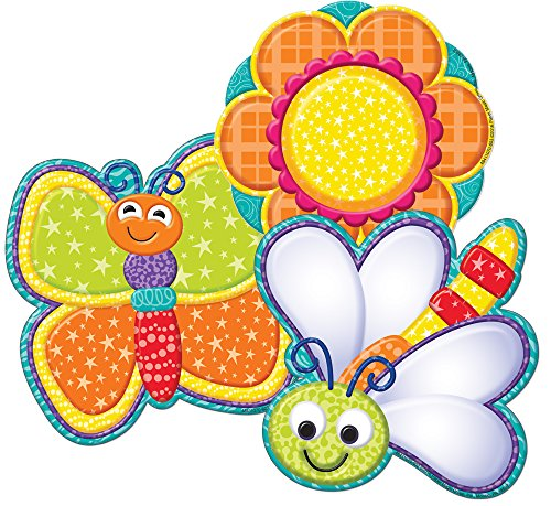 Eureka Color My World Bugs and Flower Asst. Paper Cut Outs -