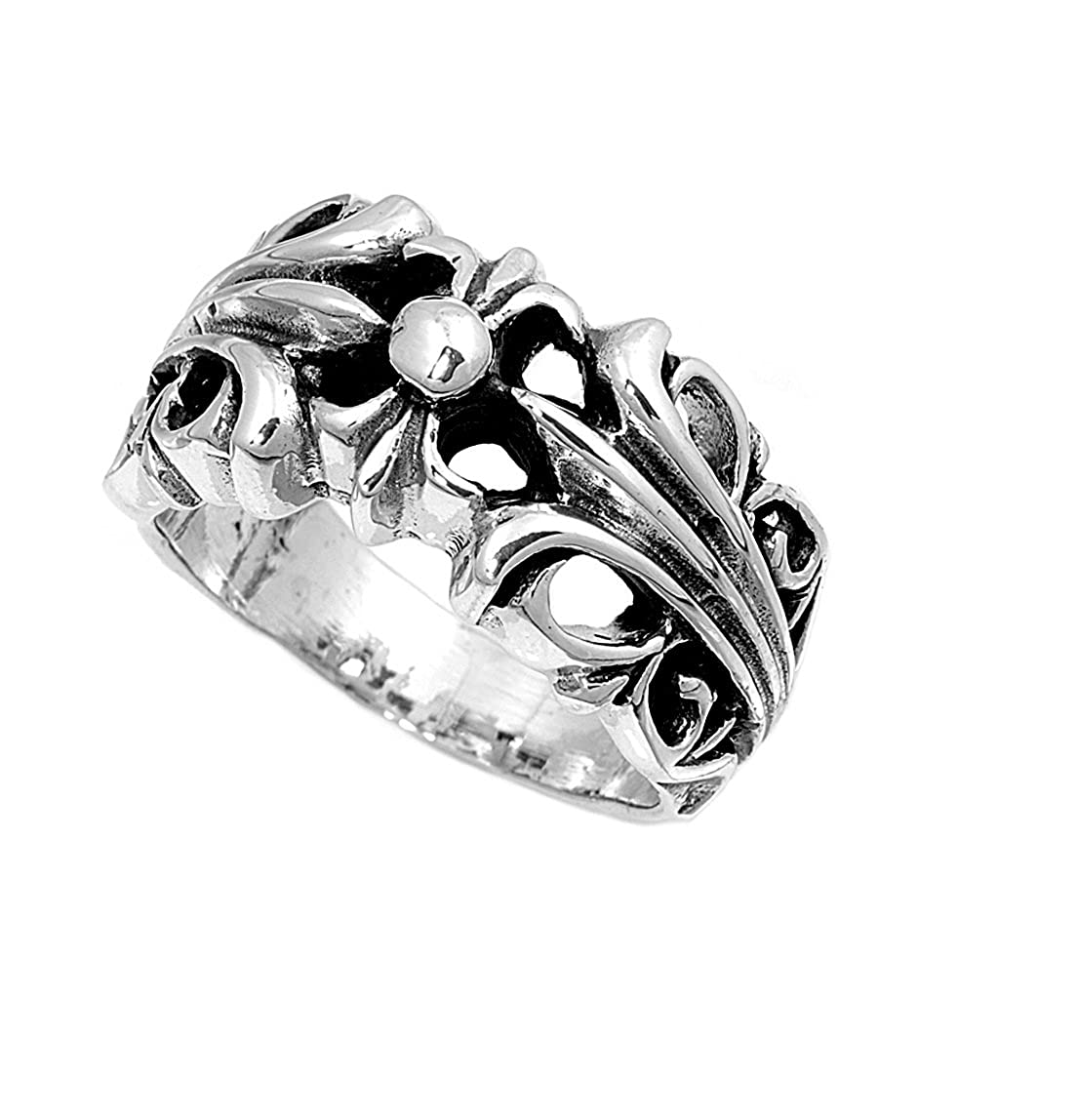 Princess Kylie 925 Sterling Silver Double Lily Ring