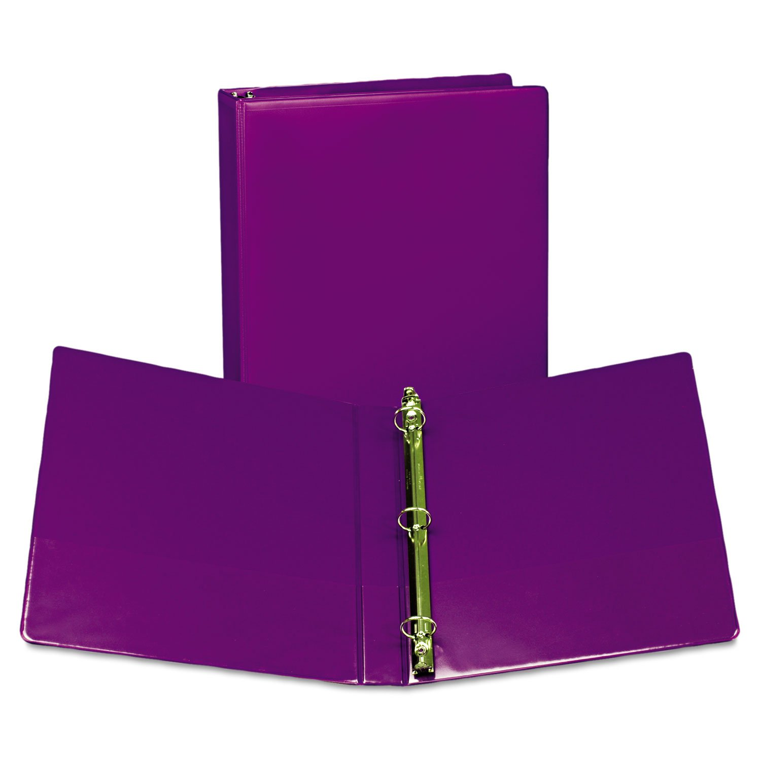 Samsill U86308 Fashion View Binder Round Ring 11 x 8-1/2 1'' Capacity Purple 2/Pack