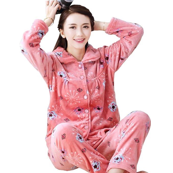 Traje de pijamas de franela de mujer más grueso traje n. ° 18