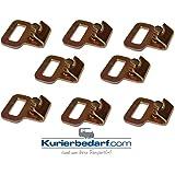 8x Crochets Plat avec agrafe Ressort Goupille par exemple pour bâtonnets d'arrimage Rails