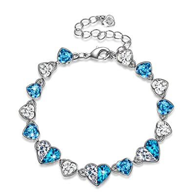 PAULINE & MORGEN Childhood Memory Bracelet for Women made with Crystals from SWAROVSKI pGwHclUg
