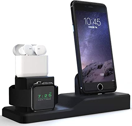 MOTOSPEED Apple Watch Stand, Charging Station Apple Watch Charger for AirPods iPhone, Apple Watch Series 5/4/3/2/1/ AirPods/ iPhone 11/11 Pro/ Xs/Xs ...