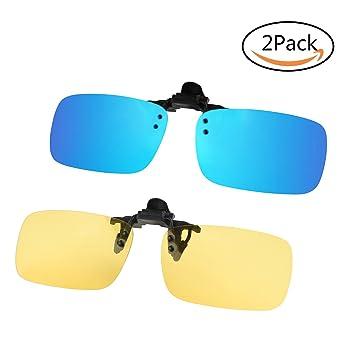 67f05f4e305 NATURE ANN Polarized Sunglasses Lenses Clip-on Flip up Glasses Set  Unbreakable for Driving Fishing