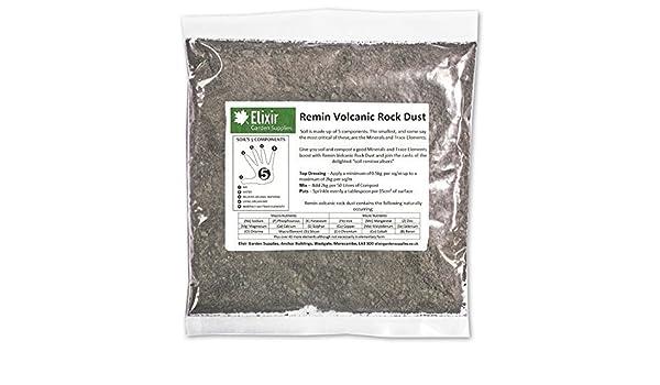 Fertilizante y remineralizante orgánico de roca volcánica en polvo, Remin, 500 g y 20 kg: Amazon.es: Jardín