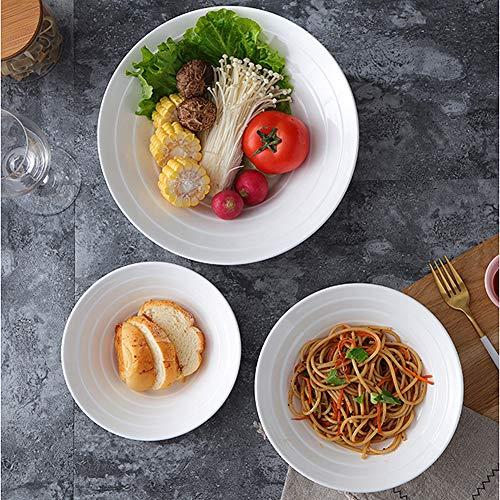 4PCS Porcelain Mixing Bowls, AnBnCn Salad Porcelain Bowls Set (Diameter:7