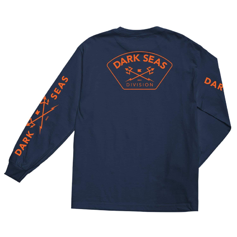 Dark Seas High Vis Navy Long Sleeve T-Shirt