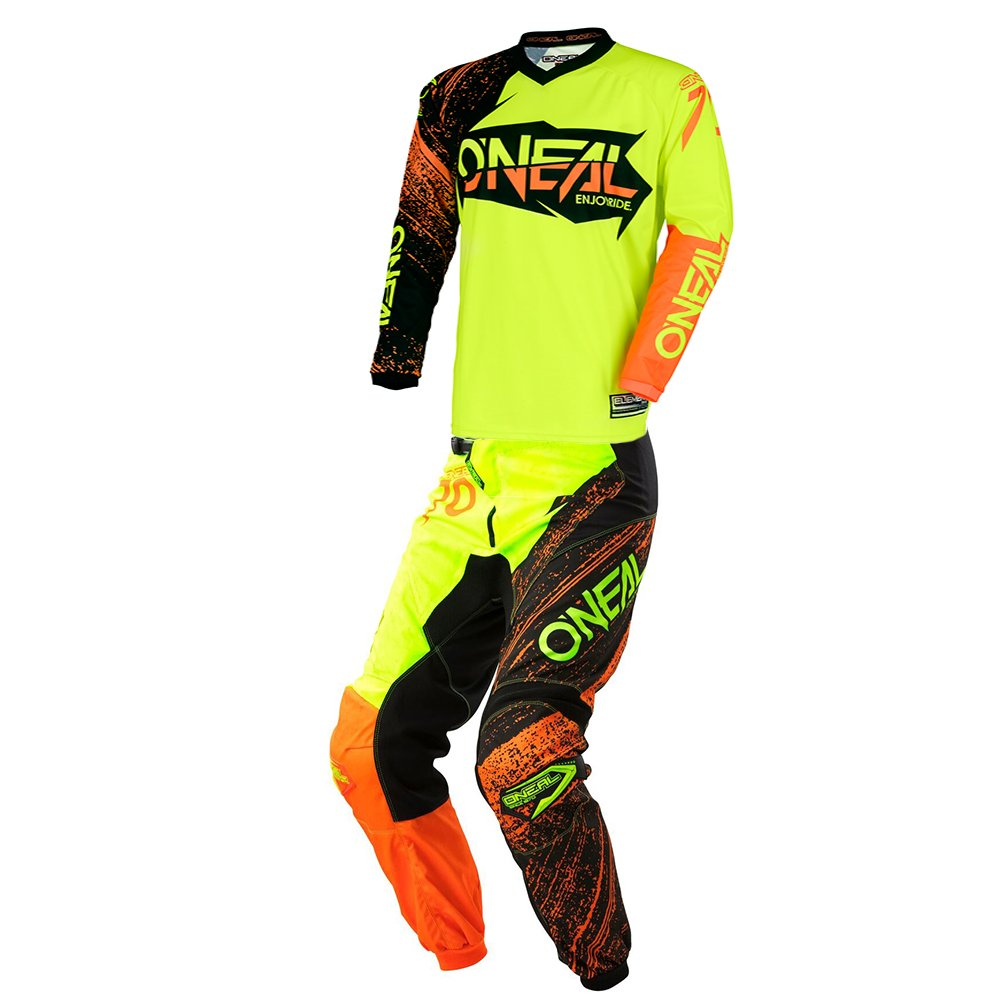 O'Neal - (Youth) Element Burnout Black, Yellow & Orange Jersey/Pant Combo - Size Y-LARGE/26W