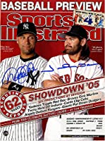 Johnny Damon and Derek Jeter Dual Signed 4/4/05 Sports Illustrated Magazine - Certified Authentic Autograph