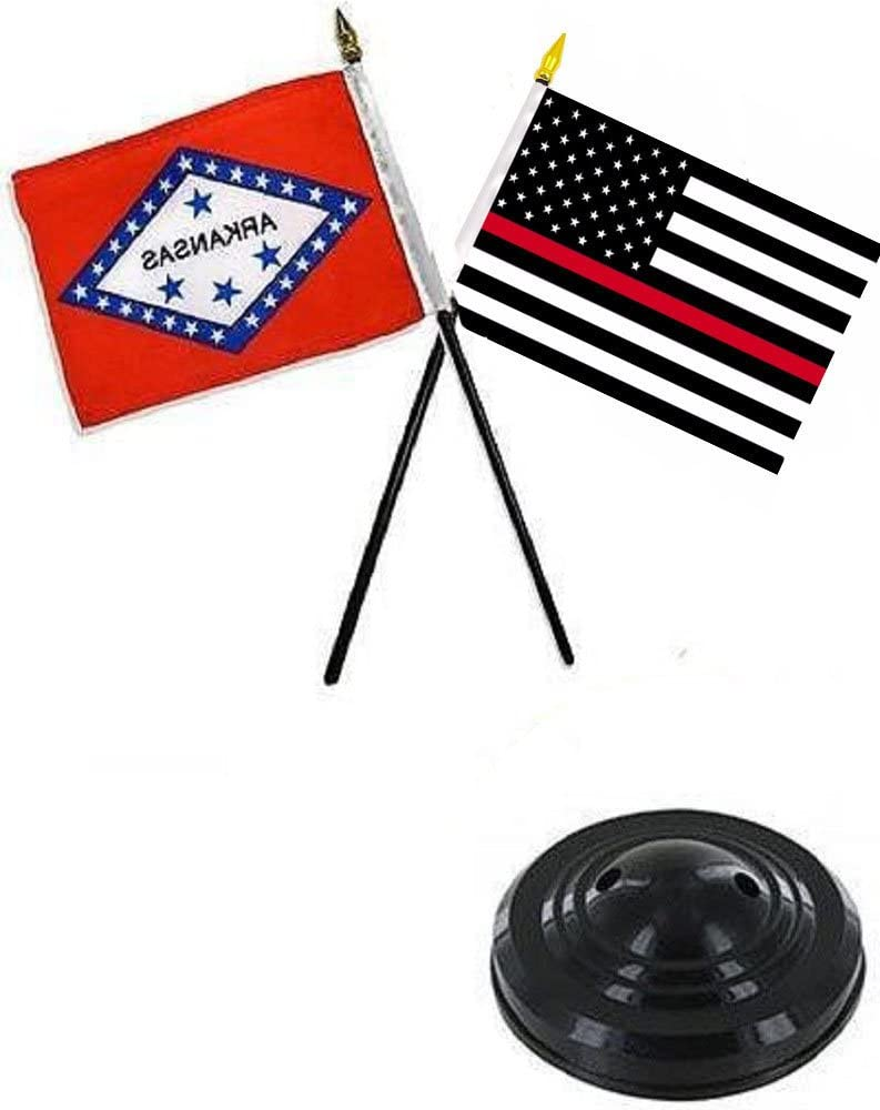 4x6 Arkansas Stick Flag Table Staff Desk Table