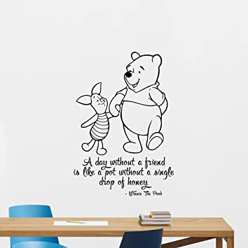 Winnie The Pooh Wall Decal Piglet Winnie Quote Lettering ...
