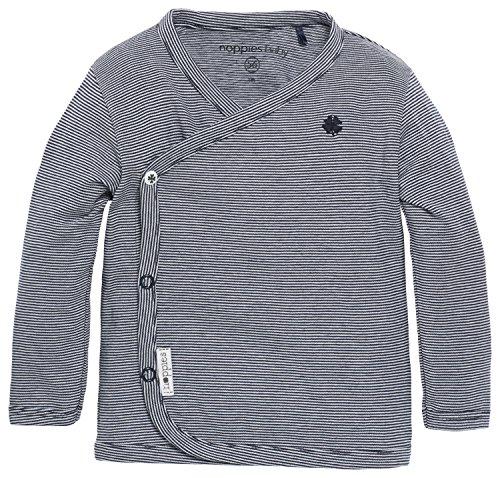Noppies Baby - Jungen T-Shirt B Tee Ls Smal Yd, Gestreift, Gr. 74, Blau (Navy C166)