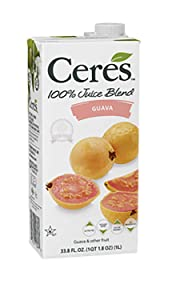Ceres 100% All Natural Pure Fruit Juice Blend - Gluten Free, Rich in Vitamin C, No Sugar or Preservatives Added - 33.8 FL OZ, Guava (Pack of 12)