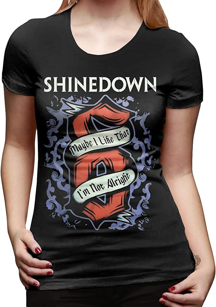 Shinedown Breathable Blouses Tops Womens Short-Sleeve Summer T-Shirts