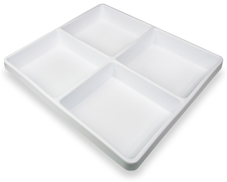 TrippNT 50424 White Polystyrene Plastic Drawer Organizer, 1 Pocket: 14