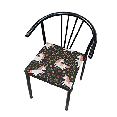 Bardic FICOO Home Patio Chair Cushion Animal Unicorn Flower Square Cushion Non-Slip Memory Foam Outdoor Seat Cushion, 16x16 Inch: Home & Kitchen [5Bkhe0806360]