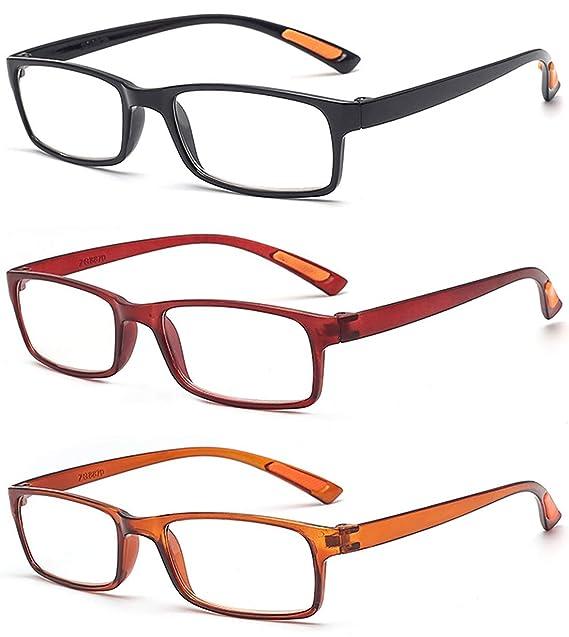 bac49a5d68 VEVESMUNDO Gafas de Lectura Ultraligeras Flexibles Hombre Mujer Modernas  Pequeñas Presbicia Vista Leer 1.0 1.5 2.0